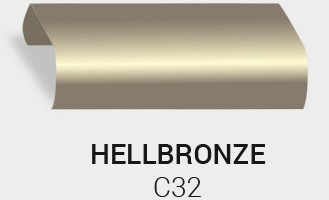 Eloxierung / Anodisierung. Eloxalfarbe Helles Bronze C32