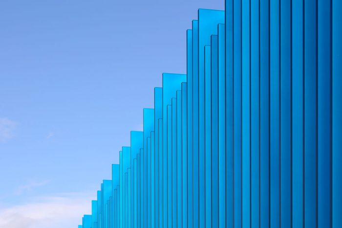 Seitensicht der Fassadenelemente