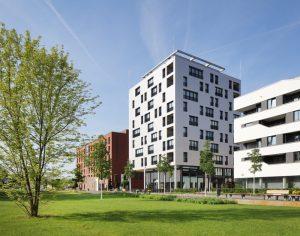 Höchstes Holzhochhaus in Deutschland: Das SKAIO in Heilbronn