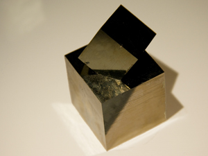 Close up of pyrite